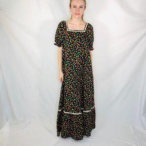 Sun Casuals Hawaii Strawberry Boho Maxi Dress L XL